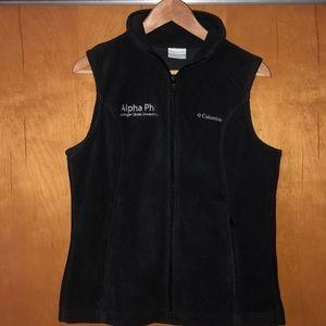 Columbus Alpha phi black vest size medium